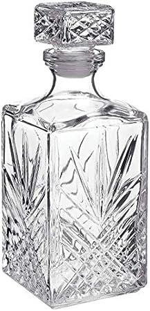 Decantador de Bormioli Rocco,Cristal tallado de transparencia perfecta,1l. Alto: 24cm,Parte de la