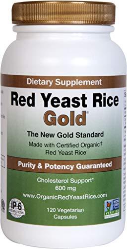 Red Yeast Rice Gold 600 mg. - IP6 International - 120 Vegetarian Capsules
