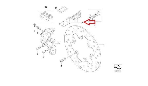 amazon com: bmw genuine rear wheel brake brake pads kit for f650gs f650gs  dakar g650gs: automotive