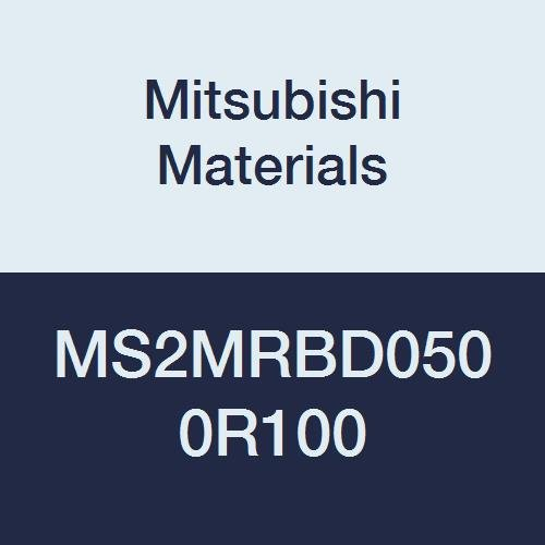 5 mm Cutting Dia 1 mm Corner Radius 2 Flutes Medium Flute Mitsubishi Materials MS2MRBD0500R100 Series MS2MRB Carbide Mstar Corner Radius End Mill