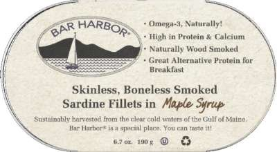 Atlantic Sardine Maple Fillet 6 Ounces (Case of 12)