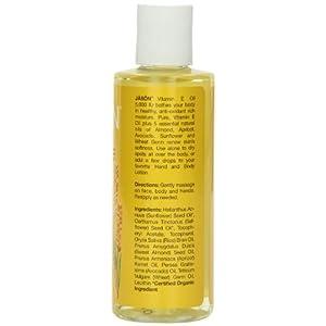 JASON Vitamin E 5,000 IU All-Over Body Nourishment Oil, 4 Ounce