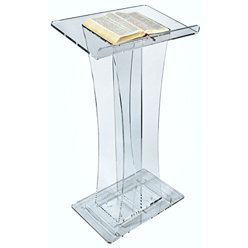 Elegant Curved Acrylic Lectern or Podium by AVTronics
