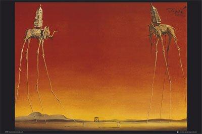 Salvador Elephants 24x36 Poster Surreal