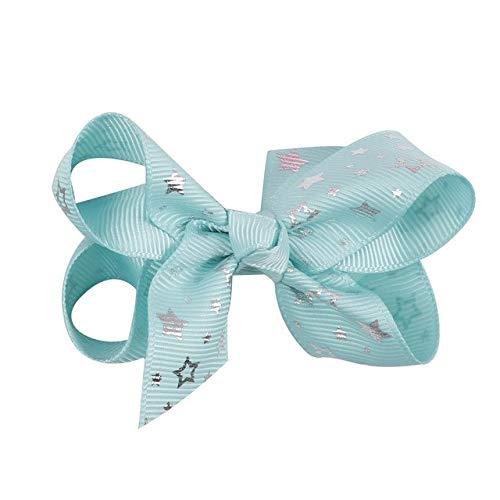 Shoppy Star Ripsband, 25 mm, Bronzing Sterne, Bedruckt, DIY Mädchen Haarschleifen, Materialien Party-Dekoration, Geschenkverpackung, Stoffband, 2 x 7,6 cm Haarschleifen