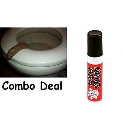 Fart Spray and Fake Turd-poop Combo Deal Prank Gag Joke: Toys & Games
