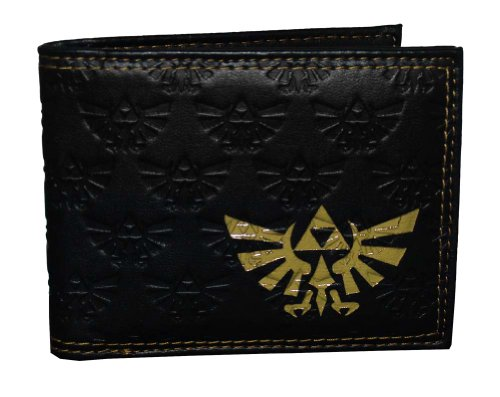 Price comparison product image The Legend Of Zelda Twilight Princess Gold Crest Nintendo Video Game Bifold Wallet