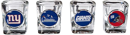 NFL New York Giants Four Piece Square Shot Glass Set (Individual (Square Shot Glass Nfl Football)