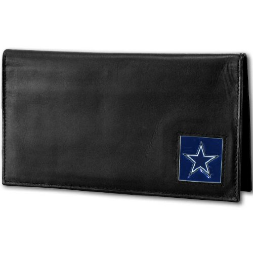 NFL Dallas Cowboys Deluxe Leather Checkbook Cover (Leather Nfl Deluxe)