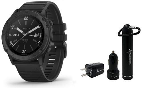 Garmin tactix Delta, Premium GPS Smartwatch with Specialized Tactical Features, Designed to Meet Military Standards with Wearable4U Ultimate Power Pack Bundle (Black)