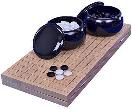 囲碁セット 新桂7号折碁盤セット(ガラス碁石梅・プラ碁笥黒) ※将碁屋椿油付き