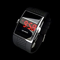 Amyove Luxury New Sport LED Digital Date Men Women Waterproof Silicone Watch Wristwatch