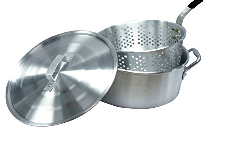 Smart Cook 10-quart Aluminum Fry Pot with Basket and Lid