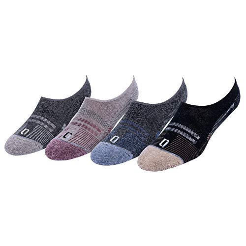 No Show Wool Blend Low Cut Hidden Liner 4 Pack Socks - Breathable Comfortable & Arch Support