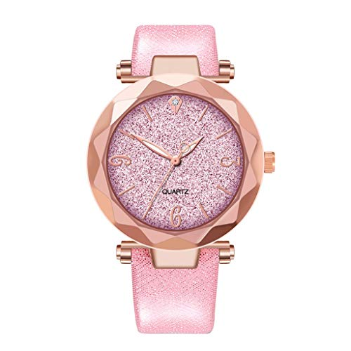 - WUAI Women's Starry Sky Analogue Quartz Watches With Leather Strap Ladies Wrist Watches Best Gifts for Her Girlfriend
