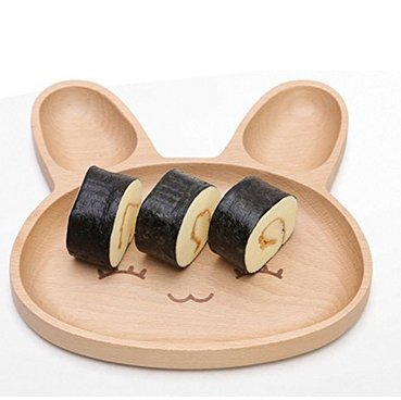 Natural Bamboo Baby Feeding Set 3pcs Includes Plate, Spoon and Fork,BPA Free Infant and Kid Friendly - 7.8'' (1) by Wendy Wu (Image #5)