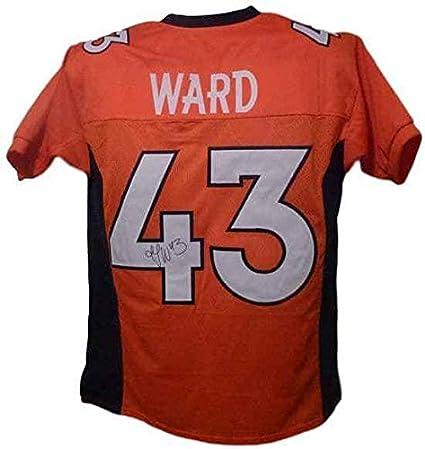 TJ Ward Autographed Denver size XL orange jersey