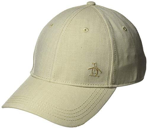 Original Penguin Men's Herringbone A-Flex Baseball Cap, Tan, Small/Medium