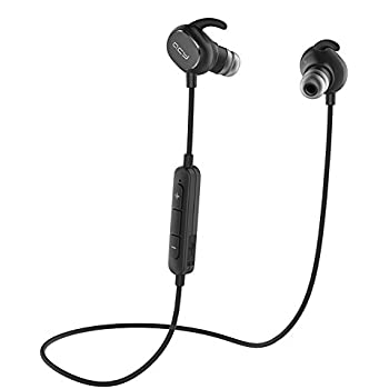 Bluetooth Headphone, QCY QY19 Wireless Earbud Waterproof Sport Stereo headset and Noise Cancelling Earphone with Mic for Smartphones (Black)