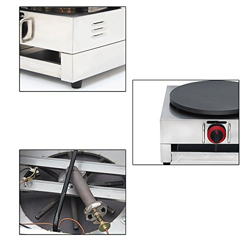 Crepe Maker Machine, vinmax Commercial Electric Single Plate Crepe Machine Snack Machine Electric Hot Plate Pancake Griddle(110v) by vinmax (Image #1)