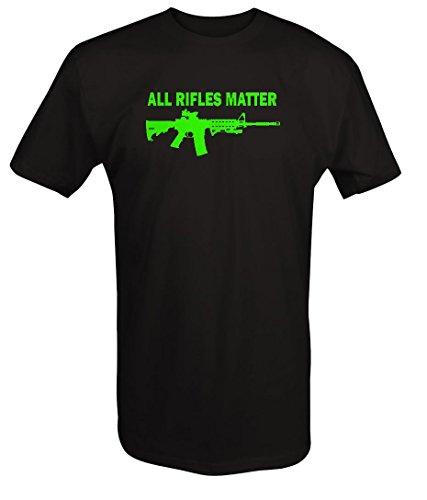 LIME - All Rifles Matter Black AR-15 Tactical Gun T Shirt