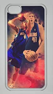 Dirk Nowitzki Dallas Mavericks #41 NBA Sports Custom PC Transparent Case for iPhone 5C by icasepersonalized