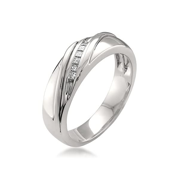 Platinum-Princess-cut-Diamond-Mens-Wedding-Band-Ring-15-cttw-H-I-VS2-SI1