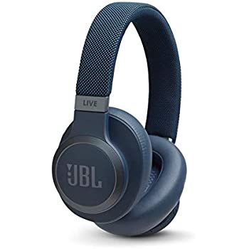 JBL Live 650 BT NC, Around-Ear Wireless Headphone with Noise Cancellation - Blue, One-Size - JBLLIVE650BTNCUAM