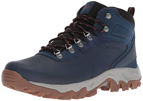 Columbia Men's Newton Ridge Plus II Waterproof Wide Ankle Boot, Collegiate Navy, Rusty, 11 US