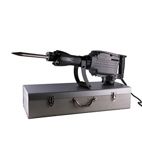 Lotsaveoutlet Industrial 2200 Watt Electric Demolition Jack Hammer Chisel Bit Concrete Breaker,2x Chise Bit 2x Carbon Brushes, Wrenches, Gloves Bottle