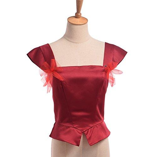 BLESSUME Girls Renaissance Corset Red (Vest Renaissance Girl Costume)