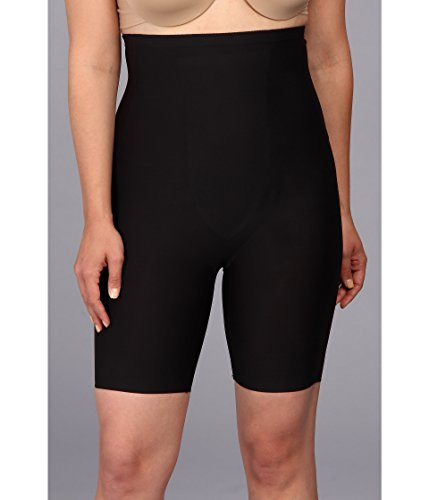 - TC Fine Intimates Women's Plus Size Just Enough Hi-Waist Thigh Slimmer 4009, Black 2X