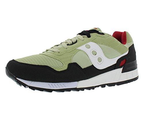 Saucony Originals Men's Shadow 5000 Classic Retro Running Shoe, Light Green/Black, 11.5 M US