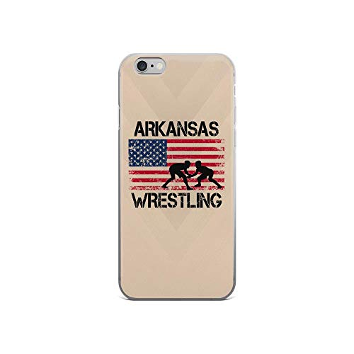 iPhone 6/6s Pure Clear Case Cases Cover Arkansas Wrestling American Flag Patriotic USA 4th of July American