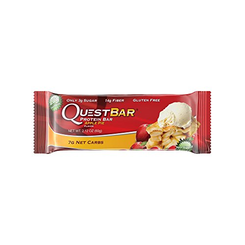 Price comparison product image Quest Nutrition Protein Bar,  Apple Pie,  20g Protein,  6g Net Carbs,  190 Cals,  High Protein Bars,  Low Carb Bars,  Gluten Free,  Soy Free,  2.1 oz Bar