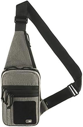 M-Tac Tactical Bag Shoulder Chest Pack with Sling for Concealed Carry of Handgun (Grey)