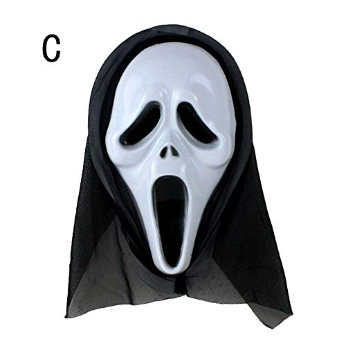 Scary Halloween Mask Terror Ghost Devil Mask Dance Party Scary Biochemical Alien Zombie Caps Mask (C)