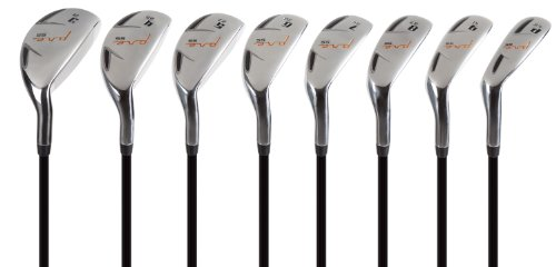 (Pinemeadow Golf Men's Pre Progressive Hybrid Set (Right Hand, Graphite, Senior, 3-PW))