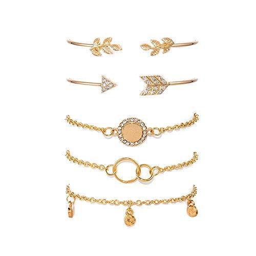 (SEVENSTONE Layered Bracelet Set Adjustable Multiple Bangle Pineapple Turtles Beaded Stackable Wrap Bohemia Bangle Jewelry for Women Girls)