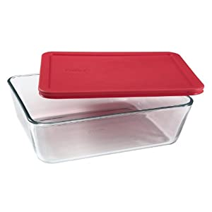 Pyrex Simply Store 11-Cup Rectangular Glass Food Storage Dish