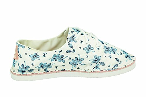 Adidas Neo Label SENEO ESPA LACE W Chaussures Espadrilles Femme Blanc Bleu Adidas