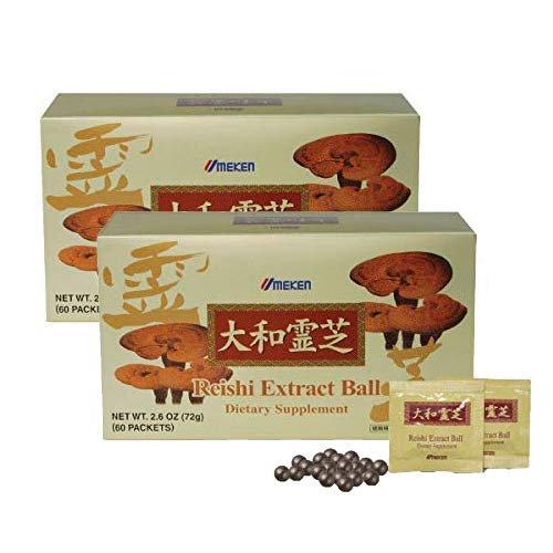 2X Umeken Reishi Extract Balls – Concentrated Reishi Mushrooms. Total 120 Packets. 4 Month Supply. Made in Japan.