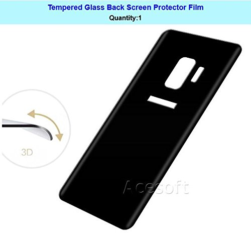 Full Coverage 9H Hardness Curved Anti-Shatter Back Tempered Glass Screen Protector [Easy to Install] for Sprint Samsung Galaxy S9 SM-G960U Android phone by SodaPop (Image #2)