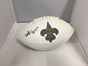 Alvin Kamara Autographed Signed New Orleans Saints Logo Football COA & Hologram