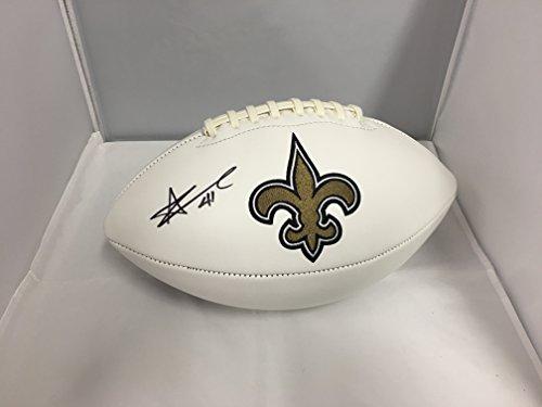 Alvin Kamara Autographed Signed New Orleans Saints Logo Football COA & (New Orleans Saints Signature Football)
