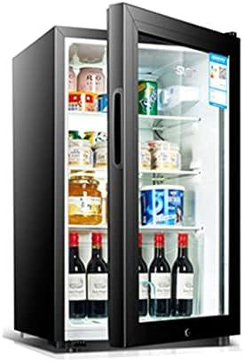 Cabina de Vino del compresor de 12 Botellas refrigerador, Puerta de Vidrio Templado, Bodega Independiente, Control de Temperatura, con Cerradura (Color : Black, Size : 68 * 43 * 40cm)