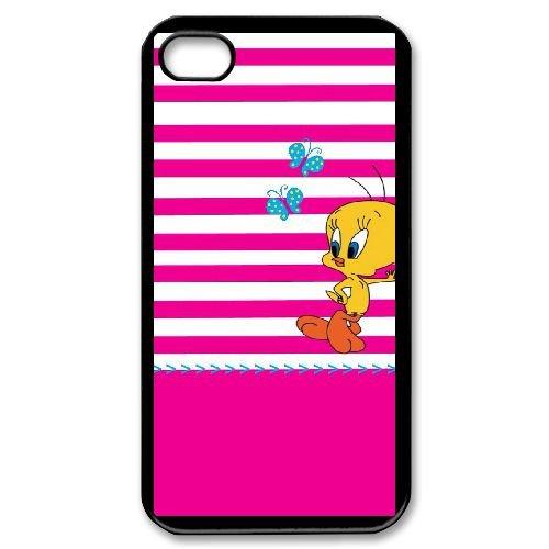 iPhone 4 4s Cell Phone Case Black Cartoon Tweety Bird Case Cover 7UI553795
