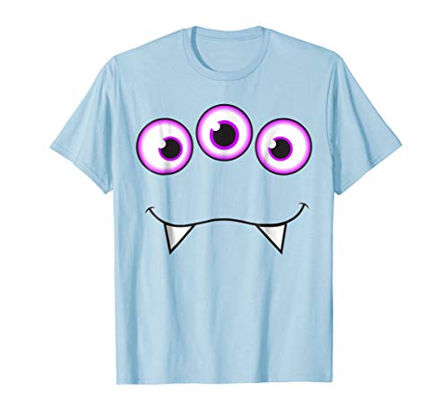 Monster Face Halloween T-Shirt - Cute Monster Costume