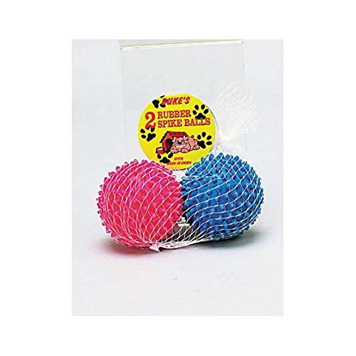 96 Rubber spike dog balls by FindingKing