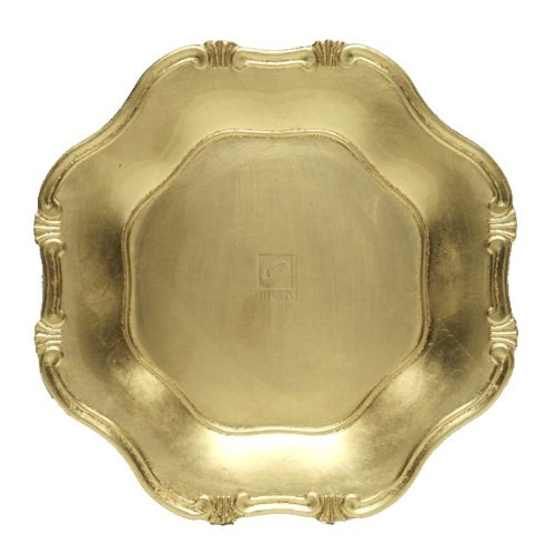 Baroque Gold Scallop Rim Charger